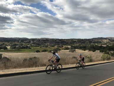 Cycling central California during a California Central Coast bike tour